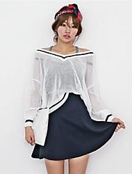 Transparent/Dünn - Langarm - Pullover - Andere )