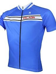 verão poliéster respirável manga curta ciclismo colormen puros 's Jersey- azul