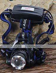 Scheinwerfer LED 3 Modus 1200 Lumen Cree XM-L T6 18650 Camping / Wandern / Erkundungen / Radsport / Klettern - Andere , SchwarzAluminium