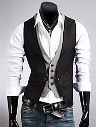 INMUR Black Sheath Sleeveless Tailored Collar Jacket