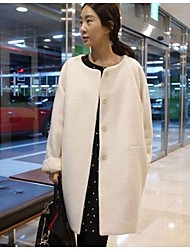 Women's Round Long Wool Coat