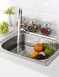 L21.6 Inch Single Bowl 304 Stainless Steel Kitchen Sink Set with Drain Rack