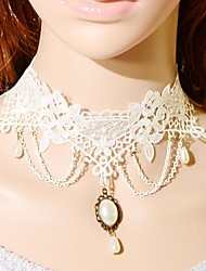 Women's Choker Necklaces Collar Necklace Statement Necklaces Vintage Necklaces Tattoo Choker Pearl LaceTattoo Style Fashion Bridal