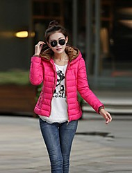 Women's New Fashion  Bodycon Thicken Double Hooded Short Down Jacket