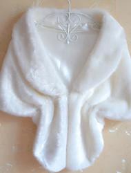b&b neue koreanische Kunstpelz Schal-Mantel