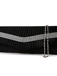Women Silk Event/Party Evening Bag White / Gold / Silver / Black