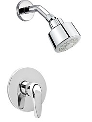 Shower Faucet Contemporary Rain Shower Chrome