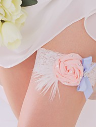 Garter Lace Flower White