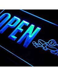 j831 grenouille ouvert signe bar bière club de pub néon de lumière