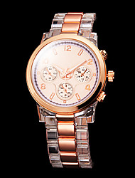 Women's Gold Dial Plastic Band Quartz Wrist Watch Cool Watches Unique Watches