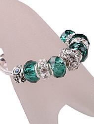 Green Beads Strand Bracelet