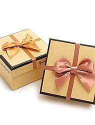 kraft caja de regalo de papel con la cinta (más colores)