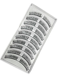 10 Eyelashes lash Eyelash Volumized Fiber