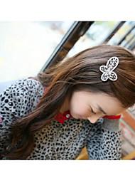 encantadora aleación estilo coreano con clips horquillas del bowknot cristalino de color de pelo al azar