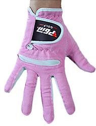 paño de microfibra de color rosa 1 par de guantes de golf transpirable dedo lleno de mujeres pgm