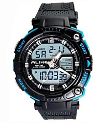 Men Dual Time Zones Multifunction Outdoor LED Sports Wrist Watch 50m Waterproof (Assorted Colors)