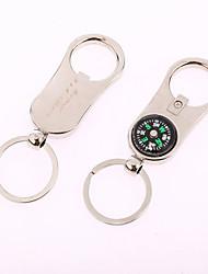 Bussola personalizzato & Bottle Opener Key Ring (Set di 6)