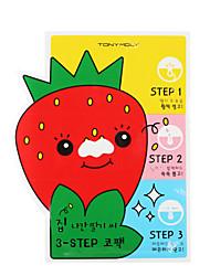 [Tonymoly] sem sementes sementes de morango 3 etapas pacote nariz 6g x 5ea (aberta + blackhead out + perto, tiras de cuidados de poro)