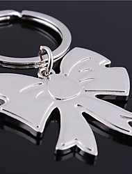Bowknot Shape  Metal Silver Keychain Toys