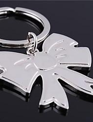 bowknot forma metal prata brinquedos chaveiro