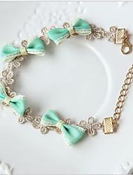 ручной прекрасную принцессу сладкий Лолита браслет с мятой зеленого луки