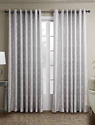 Two Panels Curtain Neoclassical , Curve Bedroom Polyester Material Curtains Drapes Home Decoration For Window