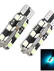 Marsing t10 de-codificado 5w 24-2835 SMD 7000k hielo luz azul universal del coche Bombillas LED de lectura de ancho (2 unidades)