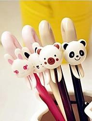 Cute Bear Or Bunny Design Plastic Gel Pens(Random Colorx1pcs)