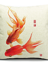Freedom Goldfish Cotton/Linen Decorative Pillow Cover
