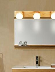 espelho carvalho lâmpada, três luzes, carvalho e vidro, 220 ~ 240V (e80053)