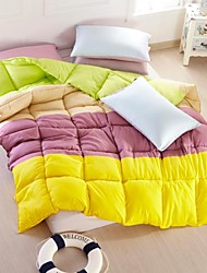 Shuian® Comforter Winter Quilt Keep Warm Thickening  Quilts with Color Mixed
