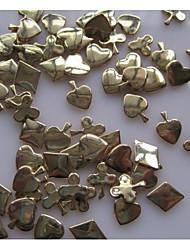 30PCS Nail Alloy Ornaments Playing CARDS Nail Art Decorations