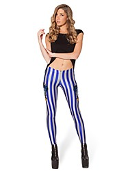 Punk Pants Striped Digital Print Pants