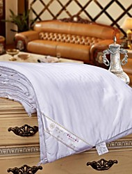 Pure Silk Blanket Hand-Work Satin Stripe Quilt  Comforter