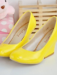 Women's Spring / Summer / Fall Wedges / Round Toe Leatherette Dress / Party & Evening Wedge Heel OthersBlack / Blue / Yellow / Red /