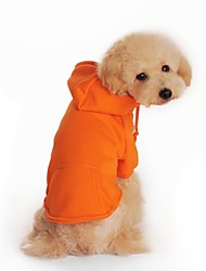 Dog Hoodie Red / Orange / Black / Gray Dog Clothes Winter Solid