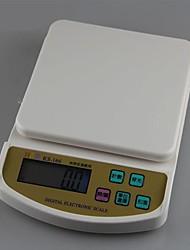 кухня пищевые цифровые весы на счетах в трее 1000г / 0,1 г, пластиковые 22.8x16x4cm