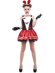 Cute Bunny Girl Loving Heart Pattern Women's Halloween Costume