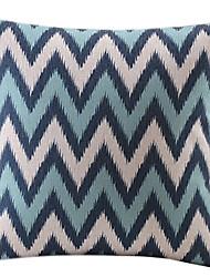 Cotton/Linen Pillow Cover , Striped Modern/Contemporary