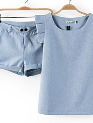 Women's Fashion Falbala Slim Suit