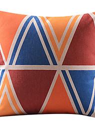 coton coloré de montagne / lin taie d'oreiller décoratif
