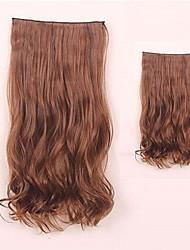 clip di capelli sintetici di estensione dei capelli di vendita caldo marrone chiaro 22 pollici per la bellezza