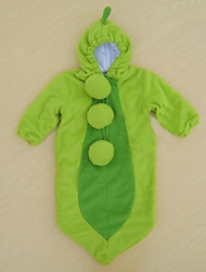 зеленые милые горох фасоль ребенка спальный мешок пеленать 0-12months