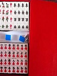 20mm mini juguetes de viaje mahjong portátiles marfil acrílico