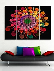 Stretched Canvas Art Gorgeous Flowers Decoration Painting Set of 4