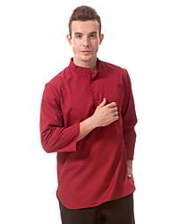 ресторанах униформа 3/4 рукав официант блузки с прижаться