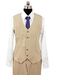 Inspired by Psycho-Pass Shogo Makishima Anime Cosplay Costumes Cosplay Suits Patchwork Brown Long Sleeve Vest / Shirt / Pants / Tie