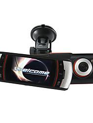 2.7 pollici Full HD 1080P dell'automobile DVR doppia fotocamera da 5.0 Mega pixel HDMI port logger GPS angolo di vista largo