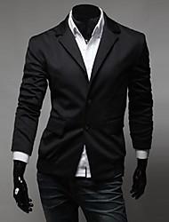 Men's Solid Casual / Work / Formal Blazer Long Sleeve