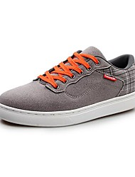 Suede Men's Flat Heel Round Toe Fashion Sneakers  With Lace-Up Shoes (More Colors)